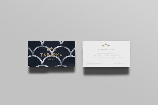 foiled business card printing