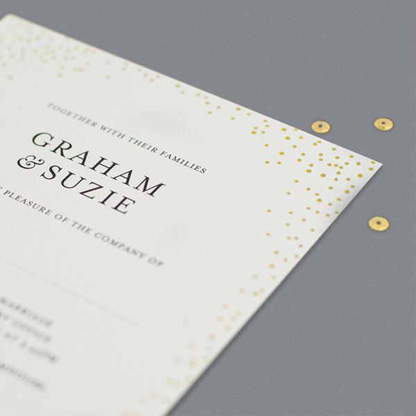 foil printed invite