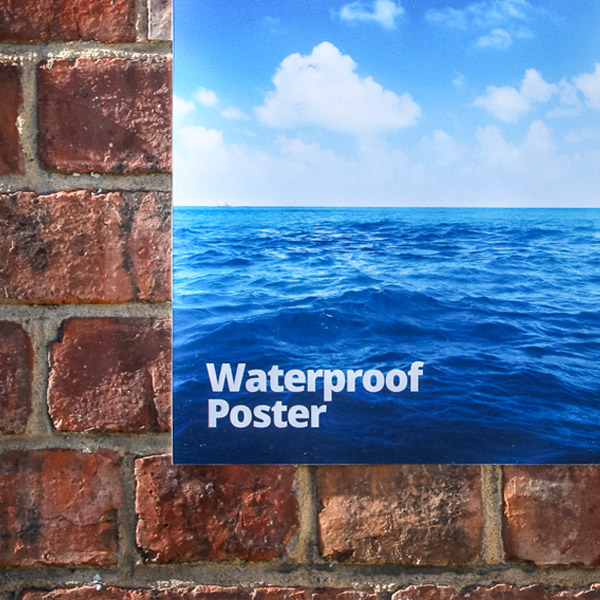 outdoor waterproof poster printing london
