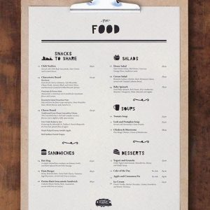cheap disposable menu printing