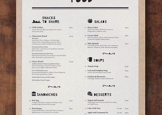 cheap disposable menu printing
