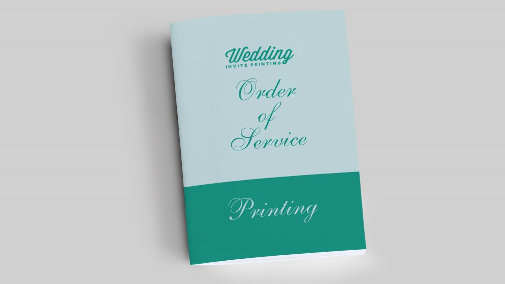 Order of service booklet printing